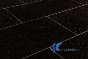 Customized Polished Black Galaxy Granite Floor pictures & photos