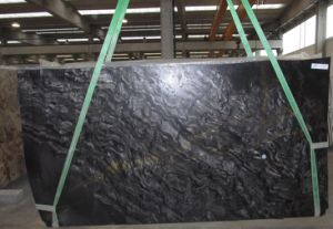 Wholesale Natural Stone Black Fantasy Stone/Granite/Quartzite Bookmatche Polished Granite Slabs pictures & photos