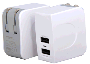 High Quality USB Wall Charger with Two Ports Output pictures & photos