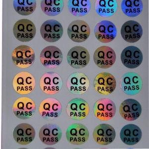 Self-Adhesive Top Quality Hologram QC Sticker pictures & photos