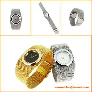 2016 New Classic Fashion Style Steel Wire Gauze Watch From Watch Manufacturer