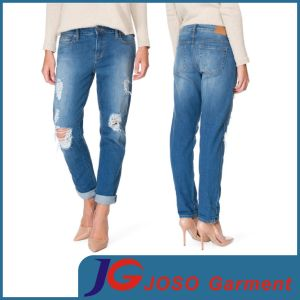 Fashion Ripped Boyfriend Denim Jeans (JC1408) pictures & photos