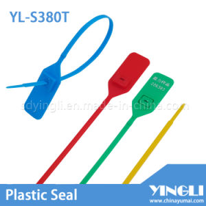 Pull Tight Disposable Customized Plastic Seal Tag (YL-S380T) pictures & photos