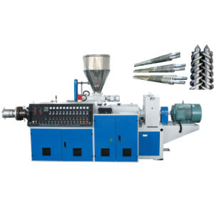 Conical Twin Screw Extruder pictures & photos