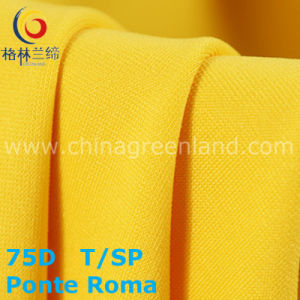 75D Polyester Rayon Spandex Ponte Roma Knitted Fabric for Textile (GLLML212) pictures & photos
