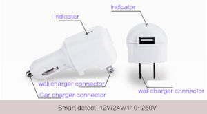 2 in 1 USB Travel Charger pictures & photos