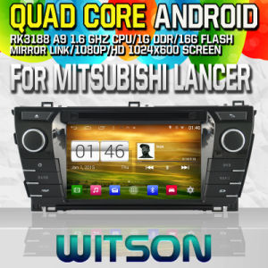 Witson S160 Car DVD GPS Player for Mitsubishi Lancer with Rk3188 Quad Core HD 1024X600 Screen 16GB Flash 1080P WiFi 3G Front DVR DVB-T Mirror-Link Pip (W2-M171) pictures & photos