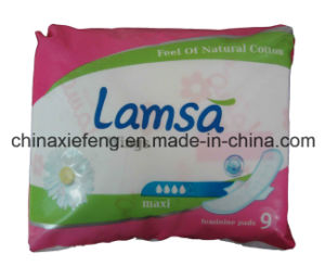 Sanitary Towel with Blue Coe for Night Use (NUL-290)