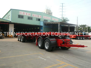 4axles Flatbed Drawbar Pulling Trailer (2front+2rear axles with drawbar and turntable) pictures & photos