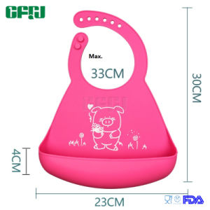 Non-Disposable Flexible Roll up Silicone Baby Bib Like Baby Clothes pictures & photos
