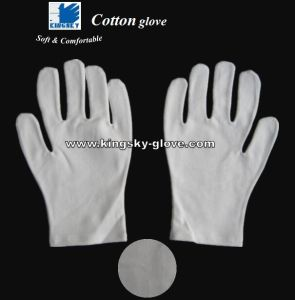 Bleached White Cotton Work Glove Made of 95% Cotton & 5% Lycra pictures & photos