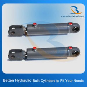 Double Acting Piston Hydraulic Power Oil Steering Cylinder pictures & photos