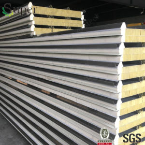 A Grade Rockwool/Rock Wool Sandwich Panel for Wall and Roof pictures & photos
