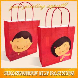 Pantone Color Printing Brown Kraft Paper Bag (BLF-PB322) pictures & photos