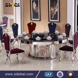Europen Style Baroque Solid Wood Dining Table Sets Luxury pictures & photos