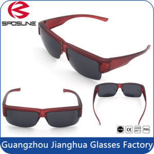 Stark Red Frame Clip on Sunglasses UV400 Protective Volleyball Fishing Eyewear pictures & photos