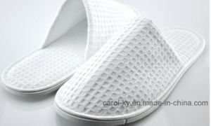Hotel Cotton Waffle Bedroom Slipper pictures & photos