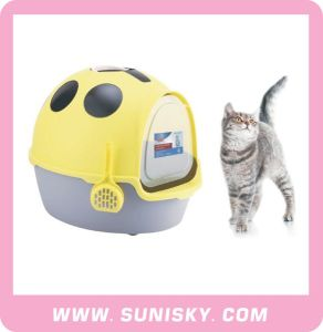 Cat Toilet with Scoop Plastic Cat Litter Box pictures & photos