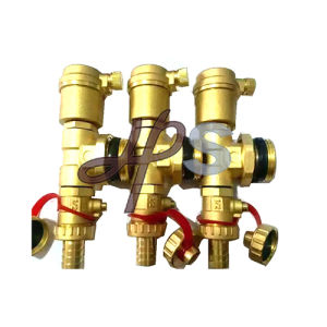 Brass Air Vent Valve with Tee and Beer Valve for Heating Manifold pictures & photos