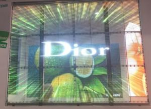 Outdoor Glass Window High Brightness LED Transparent Screen pictures & photos