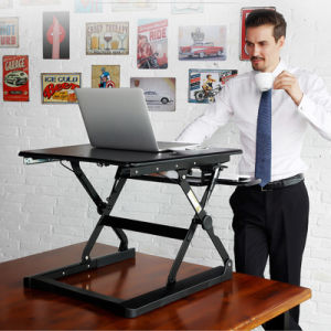 Sit Stand Desk Riser Foldable Notebook Desk Stand with Keyboard Tray pictures & photos