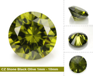 Faceted Loose Black Peridot CZ Gemstone pictures & photos