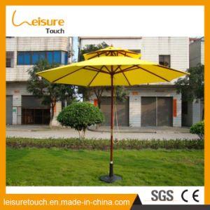 Wooden Frame Outdoor Two Layers Yellow Color Parasol Garden Sun High Quality Umbrella pictures & photos