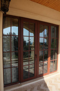Woodwin Supreme Quality Double Tempered Glass Aluminum Casement Door pictures & photos
