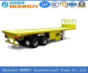 40FT 2 Axle Flatbed Container Semi-Trailer pictures & photos