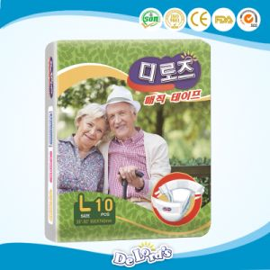Super Soft Medical Disposable Nonwoven  Adult Diaper for South Korea pictures & photos