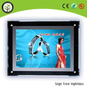 Window Display A4 Light Pocket LED Crystal Box pictures & photos