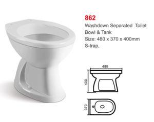 862 White S Tarp Washdown One-Piece Toilet pictures & photos