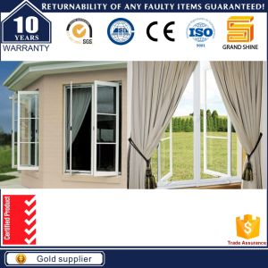 Australia Standard Hinged Windows Double Glass Black Vinyl Windows pictures & photos