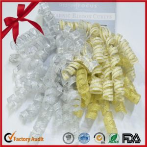 Organza Curling Ribbon Bow Curly Ribbon Roll pictures & photos