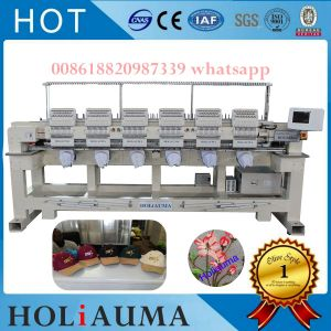 Automaic Brother Type Computer Embroidery Machine T-Shirt Garment Flat Cap Embroidery Machine 6 Head 15 Color pictures & photos