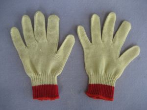 7g Five Aramid Yarn Level 5 Cut Resistance Steel Wire Knitted Glove-2316 pictures & photos