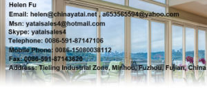 UPVC/ PVC Three Track Sliding Door Laminated Wood Color pictures & photos