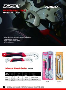 Good Quality Universal Wrench with Rubber Handle pictures & photos