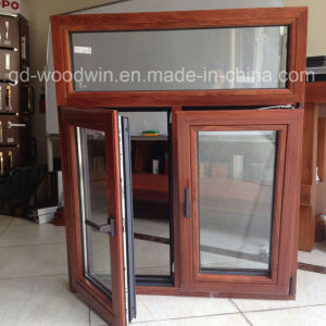 Foshan Window Double Tempered Glass Wood and Aluminum Composite Window pictures & photos