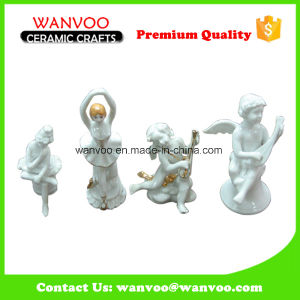 Custom Western Hand Made White Porcelain Angel Figurine pictures & photos