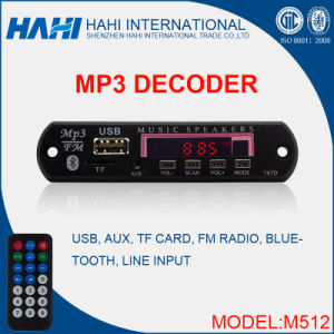 High Quality Decoder Chip MP3 Audio Player with Bluetooth (M512) pictures & photos