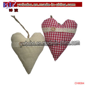 Shabby Chic Hanging Heart Decoration Xmas Padded Party Products (CH8084) pictures & photos