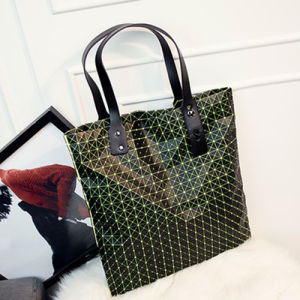 Green Rhombic Silica Gel Lady Handbag (A0116-3)