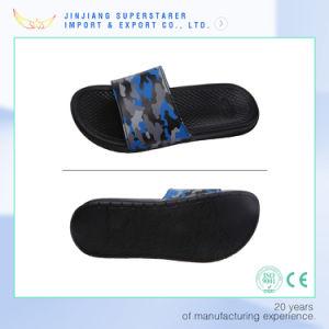 EVA Men Open Toe PU PVC Upper Steel Logo Bath Slipper pictures & photos