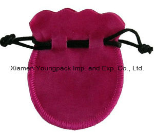 Promotional Custom Small Hot Pink Velvet Drawstring Jewelry Gift Pouch pictures & photos