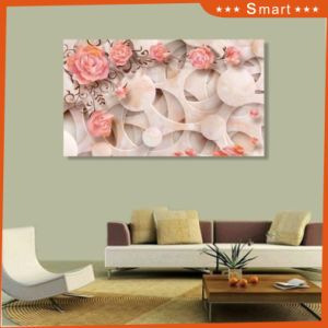 Hot Sales 3D Pink Flowers Pattern Design for Home Decoration Painting on Wall Panel pictures & photos
