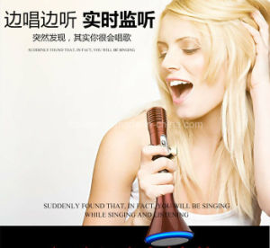 K1 Cheap Home KTV Wireless Bluetooth Karaoke Microphone with Speaker pictures & photos