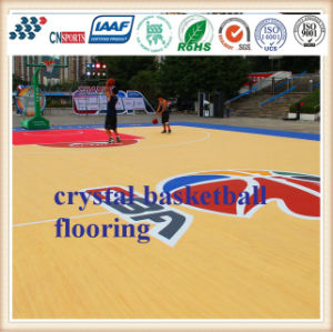Hot Selling Spu Rubber Wooden Texture Basketball Flooring pictures & photos
