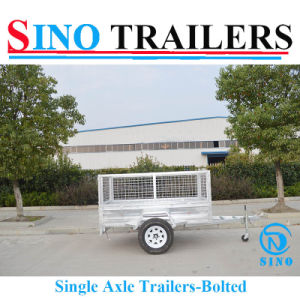 China Manufacturer Attractive Price Single Axle Bolted Trailers pictures & photos