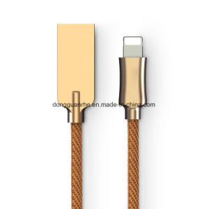 Knight Cotton Braided USB Charging Cable with Zinc Alloy Shell for iPhone